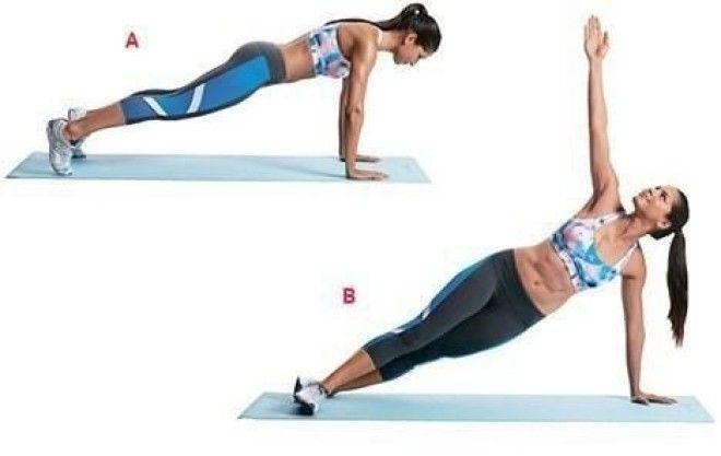 Простые упражнения для ягодиц пресса дома для девушек и женщин