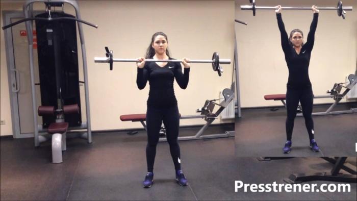 Упражнения с гантелями для похудения дома для женщин, девушек