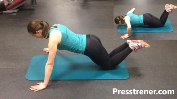 Отжимания от пола обычные с колен какие мышцы работают